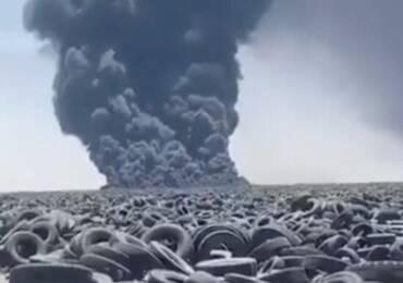 Brucia il più grande deposito di pneumatici del mondo